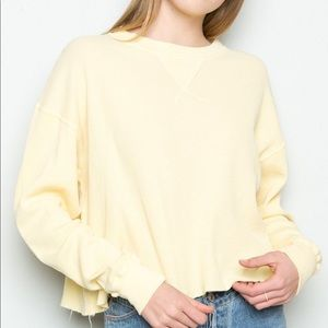 yellow brandy melville thermal sweater